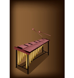A Retro Marimba on Dark Brown Background vector image vector image