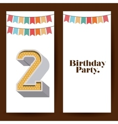 birthday party design vector image