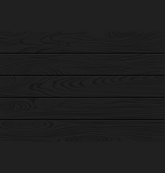 Black wood texture natural dark wooden background vector