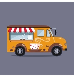 Coffee car on a white background vector image