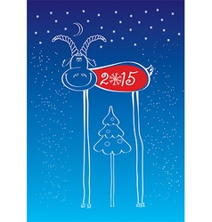 Comedy goat of New Year vector image