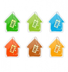 house with pricelist vector image