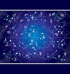 XII Constellations of Zodiac Blueprint version vector image vector image