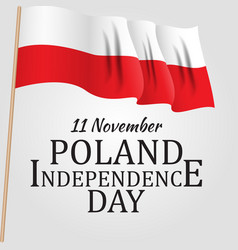 11 november poland independence day patriotic vector image