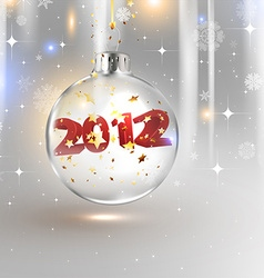 2012 christmas bauble vector