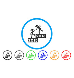 2016 business training rounded icon vector image