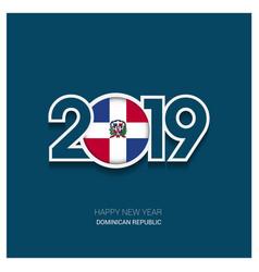 2019 dominican republic typography happy new year vector