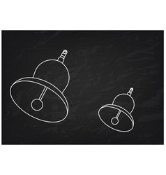 3d model of a bell on a black vector image