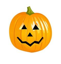 A view of a pumpkin vector image