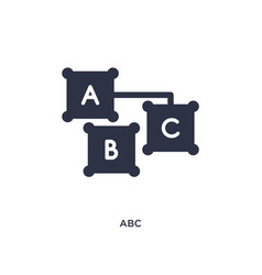 Abc icon on white background simple element from vector