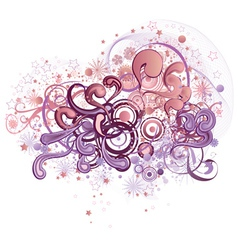 Abstract heart shaped ornament2 vector image