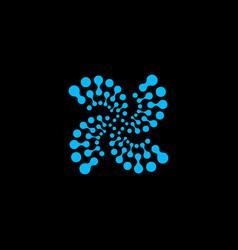 abstract logo logo blue logo circle logo vector image