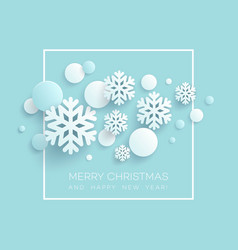 abstract papercraft snowflakes christmas vector image