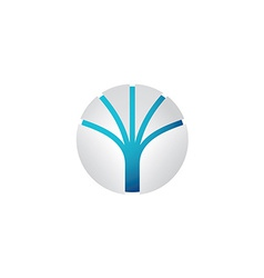Abstract tech sphere logo template vector image