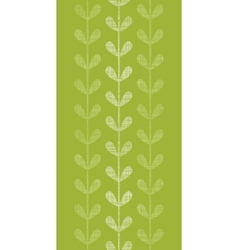 Abstract textile green vines leaves vertical vector image