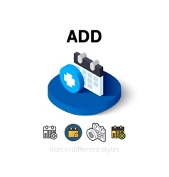 Add icon in different style vector