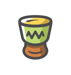african djembe drum icon cartoon vector image