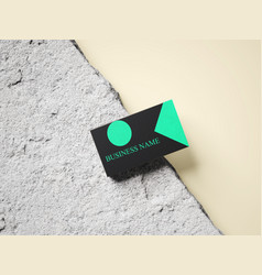 Amazing black business card vector