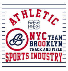 Athletic nyc team brooklyn vector