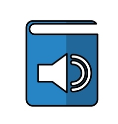 Audio book electronic icon vector