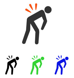 backache flat icon vector image