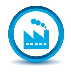 Blue factory icon vector