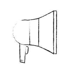 Blurred silhouette megaphone element sound vector