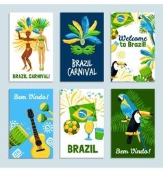 Brazil Poster Set vector image
