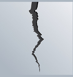 breaking cracked wall surface destruction vector image