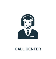 Call center icon symbol creative sign from vector
