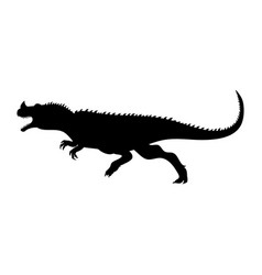 ceratosaurus silhouette dinosaur jurassic vector image
