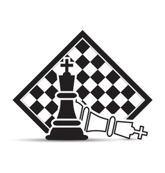 Checkmate in chessboard on a white background vector