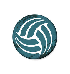 circle blue volleyball grunge frame vector image