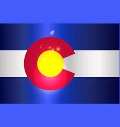 colorado state flag glow vector image