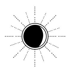 contour nice sun light ray weather vector image