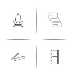 creative process and design simple linear icon vector image