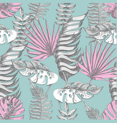 delicate pink and blue seamless pattern vector image