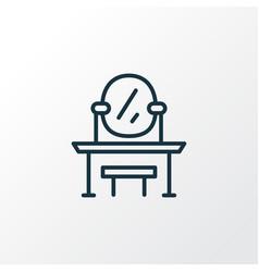 Dressing table icon line symbol premium quality vector