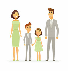 Family celebration - cartoon people characters vector