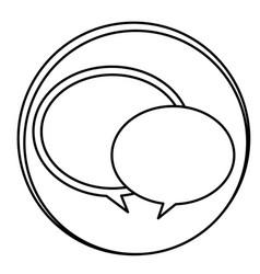 figure round chat bubbles emblem icon vector image