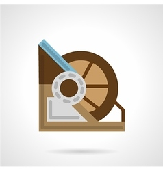 Flat color winch machine icon vector image