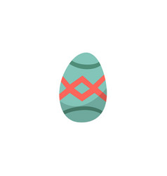 flat decorated easter egg icon isolated vector image