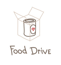 food drive charity movement vector image