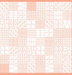 Geometric tiles linear seamless pattern vector