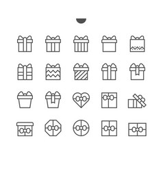 Gifts ui pixel perfect well-crafted thin vector