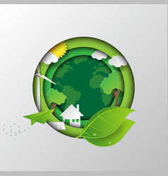 go to the green earth vector image