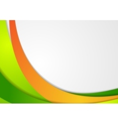 Green and orange corporate wavy background vector
