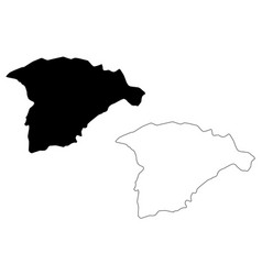 hail region map vector image