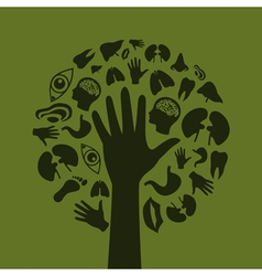 Hand a tree3 vector image