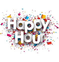 Happy hour paper background vector